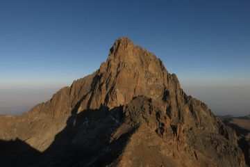 a peak on mount kenya